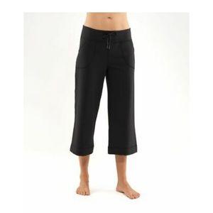 "Lululemon ""Still Crop"" wide leg pants"